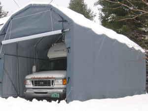 Rhino 12x28x12 Barn Shelter