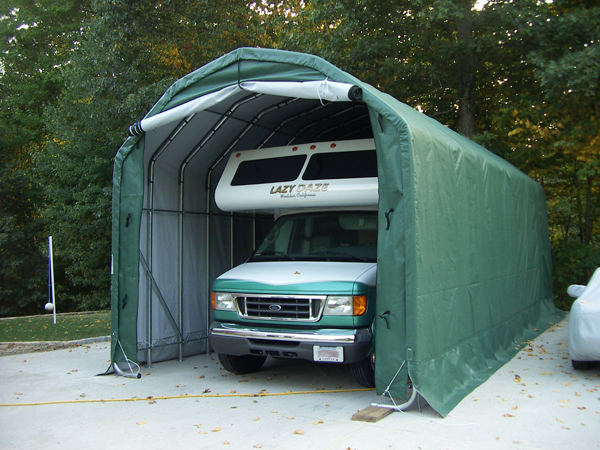 Rv Storage Shelter : Rv shelters storageshedsdirect