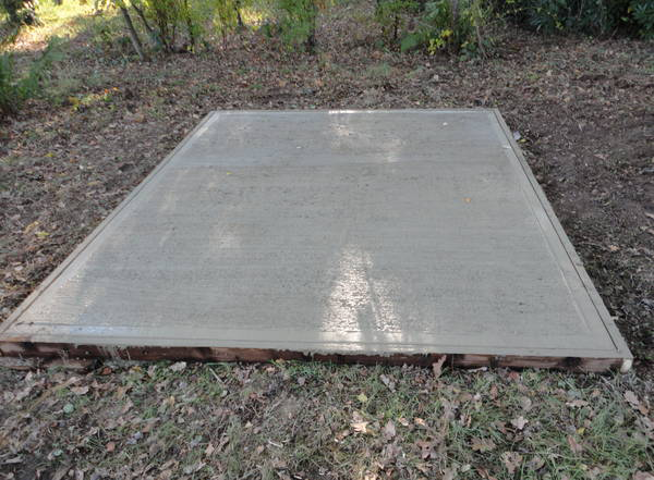 Finished Concrete Base