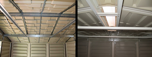 Typical Duramax Vinyl Shed Roof Structure - StorageShedsDirect.com
