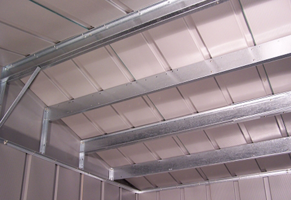 Arrow Roof Strengthening Kit Installed - StorageShedsDirect.com